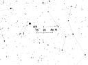 Траектория смещения радианта Лирид в 2009 году. Взято с IMO Meteor Shower Calendar 2009.